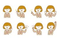 働く女性 色々な表情