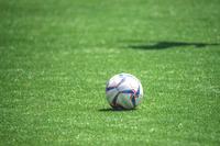 ピッチ上のサッカーボール