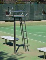 テニス場の審判スタンド