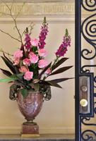 玄関の花のかざり