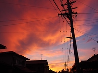 住宅街の夕焼け