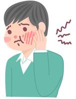 歯痛で悩む男性