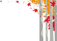 紅葉の森の背景