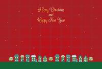 街並みのクリスマス グリーティングカード