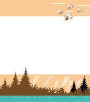 渡り鳥が南に帰る季節の背景