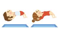 体操する男女