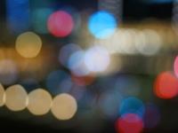 ぼかした都会のLED光源
