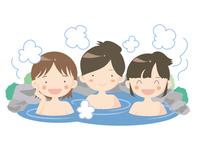 温泉・露天風呂のイメージ・女子会