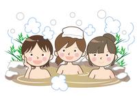 温泉・雪見露天風呂のイメージ・女子会