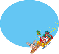 クリスマスのお知らせの背景