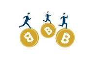 仮想通貨とビジネスマンのイメージ