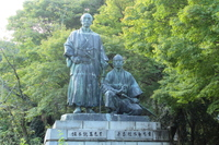 京都 円山公園 坂本龍馬中岡慎太郎像