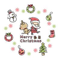 イラスト素材 クリスマス デザイン文字 イラストの画像素材