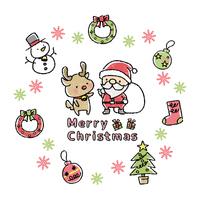 クッキー風クリスマスイラストセット の画像素材 イラスト素材ならイメージナビ