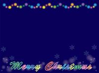 クリスマスネオンフレーム・メリークリスマス