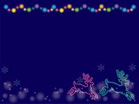 クリスマスネオンフレーム・トナカイ