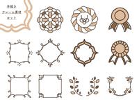 手描き 円形 フレーム 素材