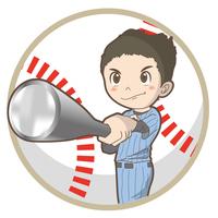 野球・バッターポーズ