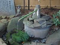 流山市駒木の諏訪神社にある御神水