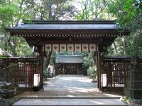 流山市駒木の諏訪神社(神門)