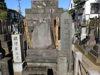 台東区谷中の安立寺にある日本画家・下村観山の墓