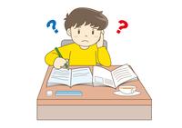 勉強する子供・疑問