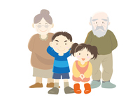 家族〈祖父母&孫〉Bタイプ