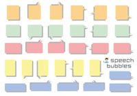 角丸長方形のふきだしセット(バラエティーバージョン)塗りプラス影