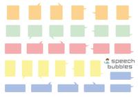 角丸長方形のふきだしセット(バラエティーバージョン)塗りのみ