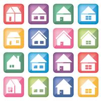 ホームアイコン・カラー角形16セット
