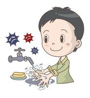風邪やインフルエンザ予防・手洗い・男性
