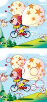 間違い探し_空飛ぶ蝶々の自転車