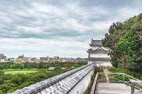 明石城 坤櫓と明石市街の風景