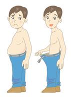 メタボ・肥満のビフォーアフター(青年)