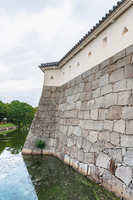 赤穂城 内堀と城壁