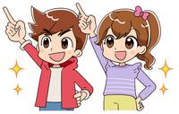 男の子と女の子 (アニメ・ゲーム風テイスト)