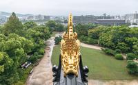 岡山城 金の鯱鉾