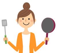 若い女性 ママ 料理