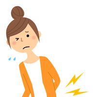 若い女性 ママ 腰痛