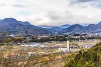 春の沼田城から見た風景