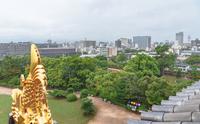 岡山城天守閣からの岡山市街地の眺望