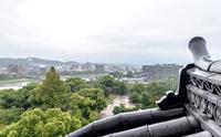 岡山城からの岡山市の眺望