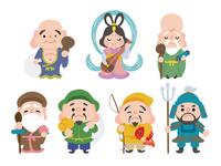 とても可愛らしい七福神