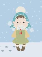 雪の中の少女/大