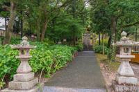 吉備津彦神社 子安神社の参道風景