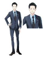 ビジネス向けの服装をした男性全身-スーツ