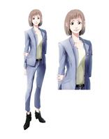ビジネス向けの服装をした女性全身-スーツ