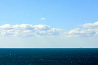 潮岬から見る水平線