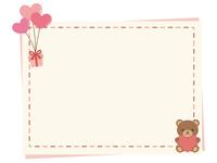 ハートのメッセージカード1