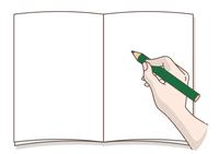 書いている手・鉛筆